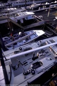 Newport 1983, France III, Azzurra, Challenge 12 , Australia II under the same lift