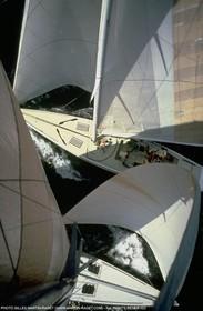 Newport 1983, Training start between France 3 and Australia II (top)