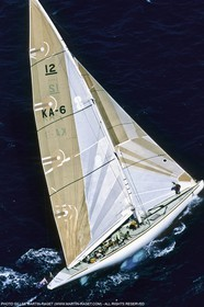 Sailing, Yacht Racing, America's Cup XVI, Newport (USA,RI), 1983, Australia II.