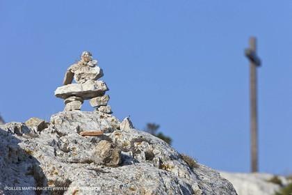 10 09 2009 - Marseille (FRA, 13) - Les Calanques - Massif de Marseilleveyre - At the top