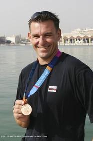 Xavier Rohart et sa médaille de Bronze