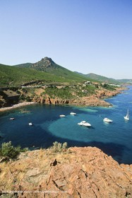 France - Côte d'Azur - Esterel cliffs