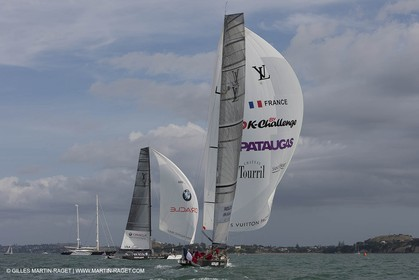 01 02 2009 - Auckland (NZL) -  Louis Vuitton Pacific Series -  Racing Day 4 - Round Robin 2 - BMW ORACLE RAcing Vs Pataugas by K-Challenge
