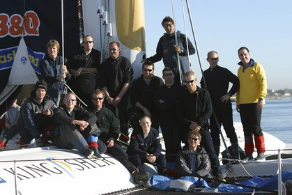 Kingfisher II - Jules Verne Trophy 2002 start - Brest
