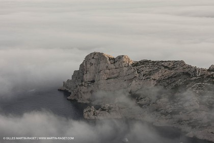18 07 2012 -Marseille (FRA ) - The Calanques - Unusual foggy conditions - Sormiou calanque