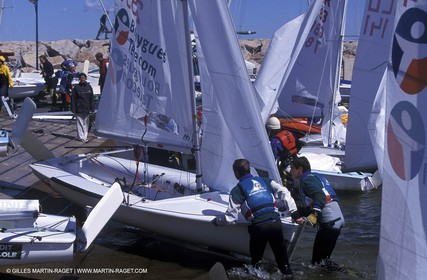 end of regata-cleaning
