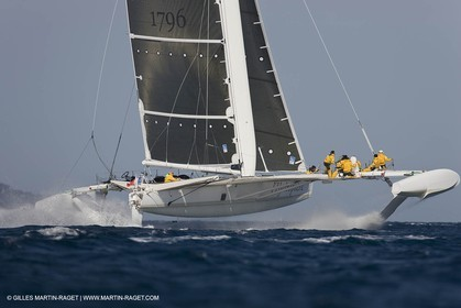 14 06 2008 - Toulon-Hyères (FRA,83) - 50 knots record attempt trials by l'Hydroptère