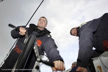 Orange II  - 2005 Jules Verne Trophy - Training in Bay of Biscay -Yann Eliès -