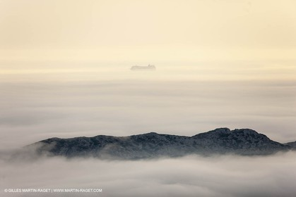 18 07 2012 -Marseille (FRA ) - The Calanques - Unusual foggy conditions