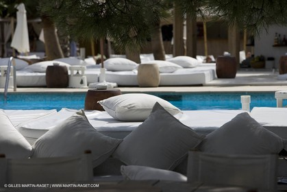 06 09 2007 - Saint Tropez (FRA, 83) - Superyachts - Motoryachts - Mangusta 92 Triple Fun in Saint Tropez - At Nikki Beach Club 55 at Pampelonne Beach