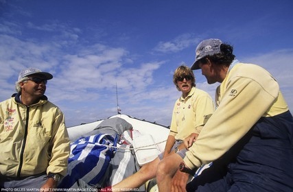 America's cup - San Diego 1995  - Team NZ - Brad Butterworth, Peter Blake, Russell Coutts