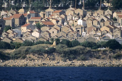 France, Corsica, Ajaccio marine cemetery