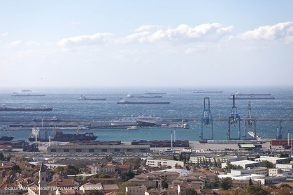 25 10 2010 - Marseille (FRA,13) - Ships at the mooring due to a strike of the harbour staff