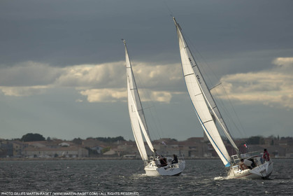 28 01 2016, Sète (FRA,34), Cruising on Thau Basin, Marseillan