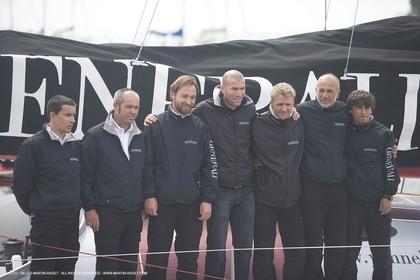 11 05 2007 - La Trinité sur Mer (France) - Yann Eliès Generali 60 open project for Vendée Globe - soccer champion Zinedine Zidane - Boat christening ceremony