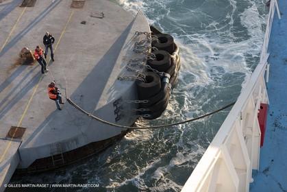 16 02 2012 - Propriano (FRA, Corse) -  La Méridionale shipping company- Piana at Propriano