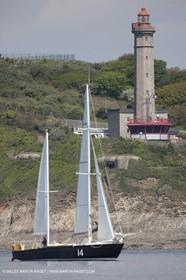 19 05 2010 - Brest (FRA,29) -  Pen Duick II in the Brest straight