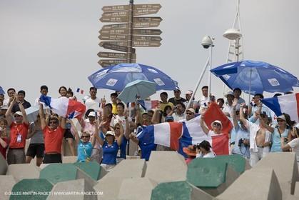 18 08 2008 - Qingdao (CHN) - 2008 Olympic games - Day 10 - Medal race 470 men, Charbnonnier Bausset bronze medal