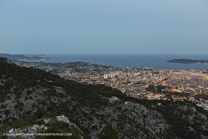 07 06 2012-Toulon (FRA,83) - Bay of Toulon as seen from the top of Mount Faron