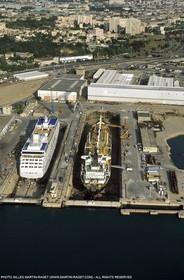 Marseille port, dry docks