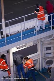 17 02 2012 - Marseille (FRA,13) - Arrival in Marseille onboard ferry Piana (La Meridionale)