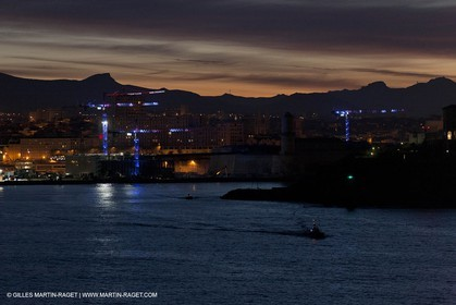 17 02 2012 - Marseille (FRA,13) - Arrival in Marseille harbour onboard ferry Piana (La Meridionale Corp.)