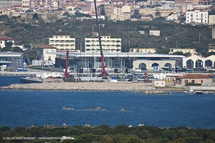 19 05 2010 - La Maddalena (ITA, Sardinia) Louis Vuitton Trophy - BMW ORACLE Racing - Arsenale Marina
