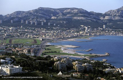 Marseilles, south area and prado beaches