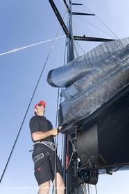 03 09 06 - Porto Cervo (Sardinia) - Maxi World Cup 2006 - Onboard Wally 90 Tango