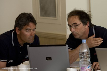 27 04 2008 - Paris (FRA) - 33rd America's Cup - BMW ORACLE Racing - Cup Yacht Design Team Meeting - Russell Coutts - Mick Kermarec