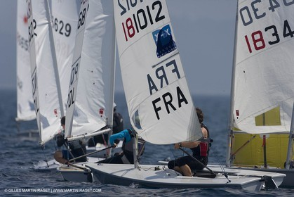 23 04 2007 - 2007 Semaine Olympique Française - Hyères (South of France) - Day 2 - Team France - Laser - Pruvot Corentin