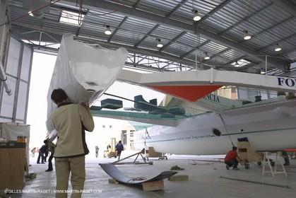 ORMA 60' Trimaran Foncia 2 - Alain Gauthier - Boat building - Boat yard