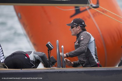 30 01 2009 - Auckland (NZL) -  Louis Vuitton Pacific Series -  Racing Day 1 - Emirates Team New Zealand Vs Damiani Italia