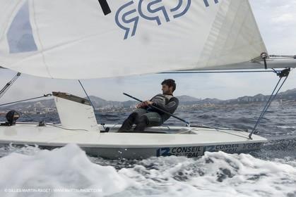Laser Europa Cup 2014 - Training day - Antony Munoz (FRA)  Marseille (FRA,13) - 11 04 2014