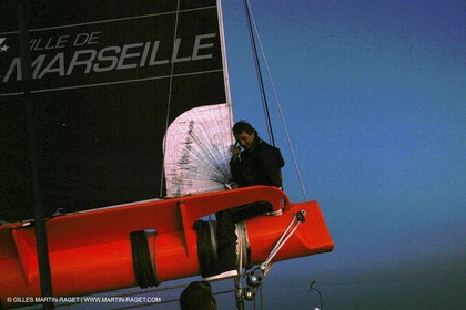 Bruno Peyron - Orange II - First sea trials