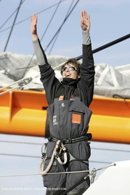 Orange II - 2005 Jules Verne Trophy finish - Brest - On shore - Nicolas de Castro