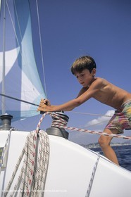 Sailing, cruising, people, children