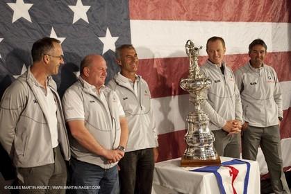 15 02 2010 - Valencia (ESP) - 34th America's Cup - Day 1 - Press conference -