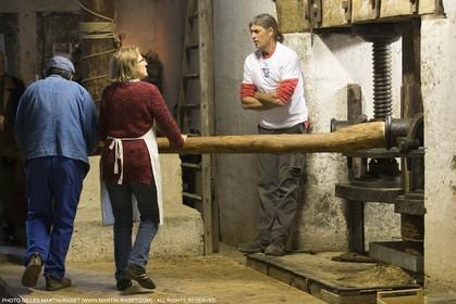 14 11 2015, Saint-Etienne du Grès (FRA,13), traditional making of olive oil at La Croix mill