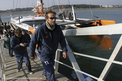 Orange II-2004 Jules Verne Trophy-Lorient final return