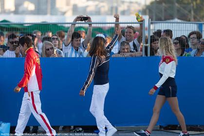 14 08 2016, Rio de Janeiro (BRA), 2016 Olympic Games, Sailing, RSX Women medal ceremony