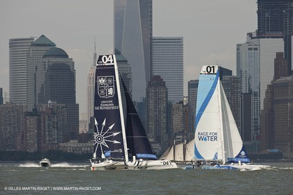 03 07 2012 - New York (USA, NY) - Krys Ocean Race prologuie - arrival in New York