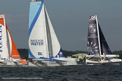 02 07 2012 - Newport (RI) -start of the Krys Ocean Race pre-event sailed between Newport and New York