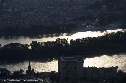Rhône river, King Rene castle near Tarascon