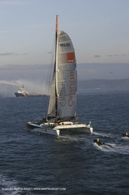 Orange II - 2005 Jules Verne Trophy finish in Brest - At sea