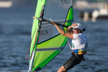 14 08 2016, Rio de Janeiro (BRA), 2016 Olympic Games, Sailing, RSX Women medal race, Charline Picon (FRA), gold medalist