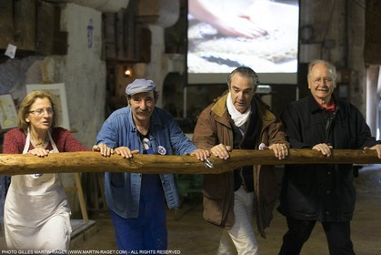 14 11 2015, Saint-Etienne du Grès (FRA,13), traditional making of olive oil at La Croix mill