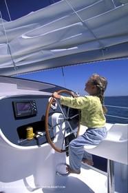 Sail - Cruising - Child - Helm