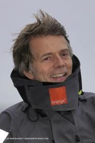 Trophée Jules Verne - Lorient - 30 12 04 - Orange II - Entraînement - A bord - Roger Nilson