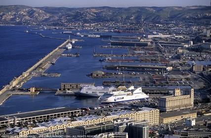 Marseilles, joliette commercial port